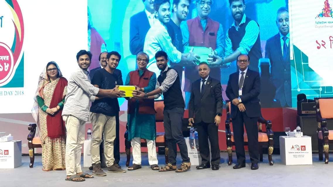 Digital Bangladesh day 2018:Robowars, Team Wall-E,1st runner up