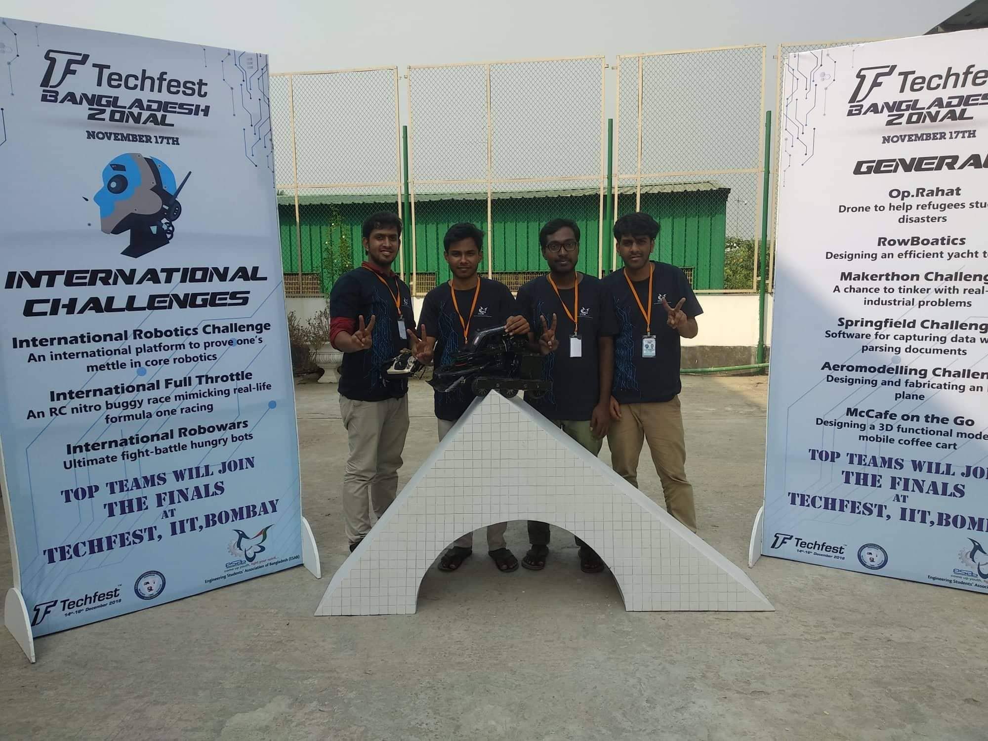 Tachfest Bangladesh Zonal, Robowar, Team Wall-E, Runner Up